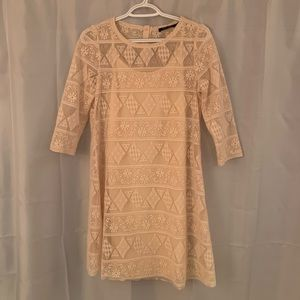 Doe & Rae Cream Lace Dress